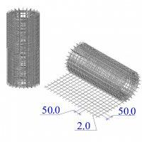 Сетка оцинкованная в рулонах 50х50х2