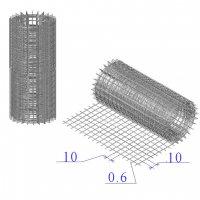 Сетка оцинкованная в рулонах 10х10х0,6