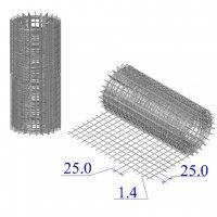 Сетка оцинкованная в рулонах 25х25х1,4
