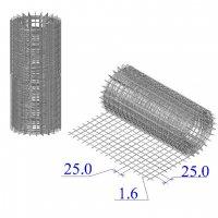 Сетка оцинкованная в рулонах 25х25х1,6