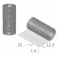Сетка оцинкованная в рулонах 25х12,5х1,6