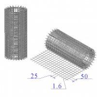 Сетка оцинкованная в рулонах 25х50х1,6