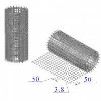 Сетка оцинкованная в рулонах 50х50х3,8