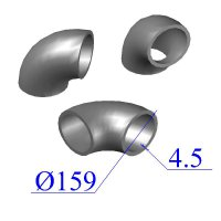 Отводы стальные 159х4,5 оцинкованные